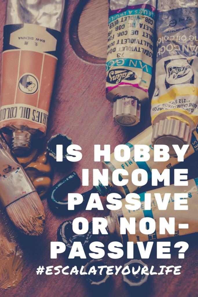 Is hobby income passive or non-passive